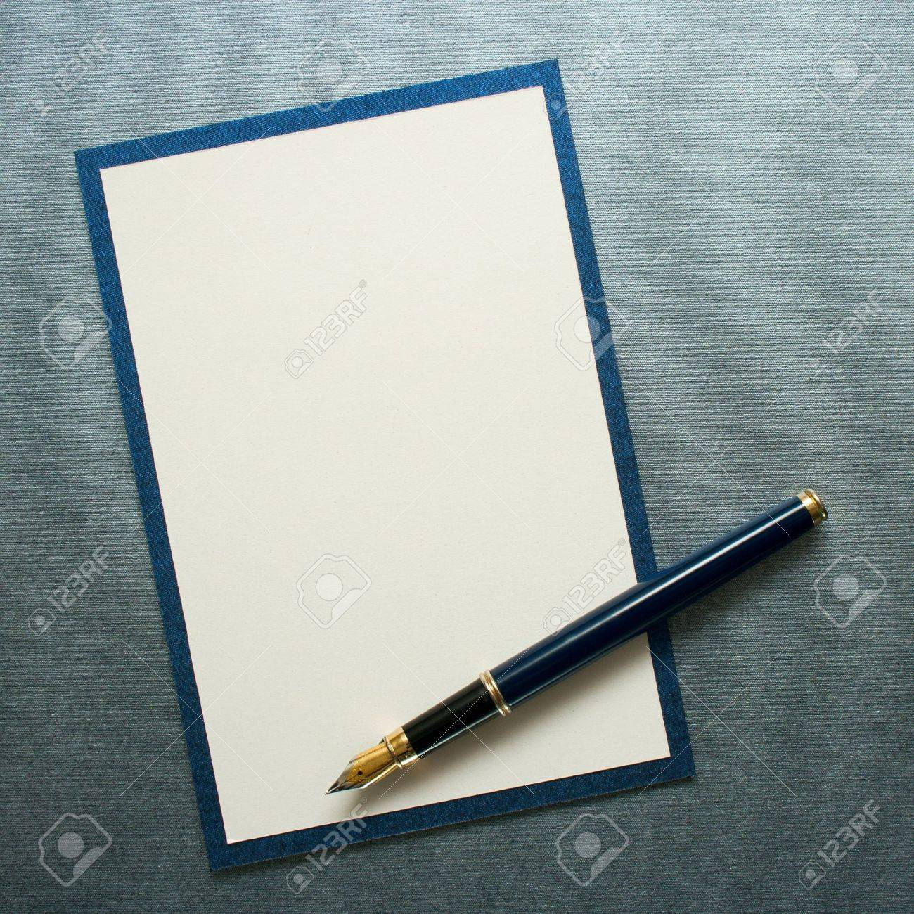 Ink pen on paper card Stock Photo - 10860337