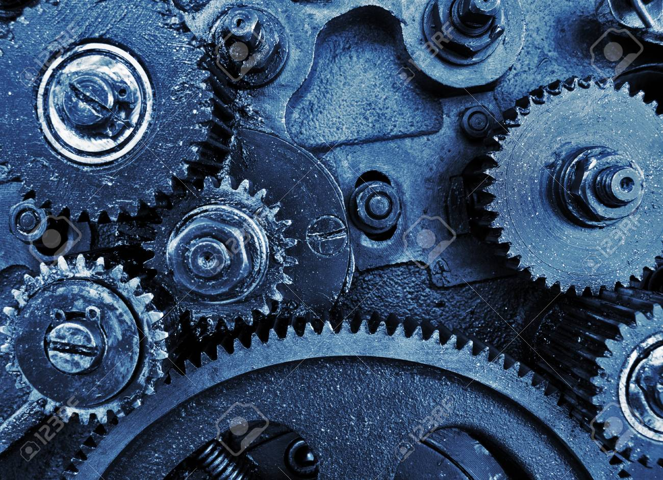 view of gears from old mechanism Stock Photo - 10867172