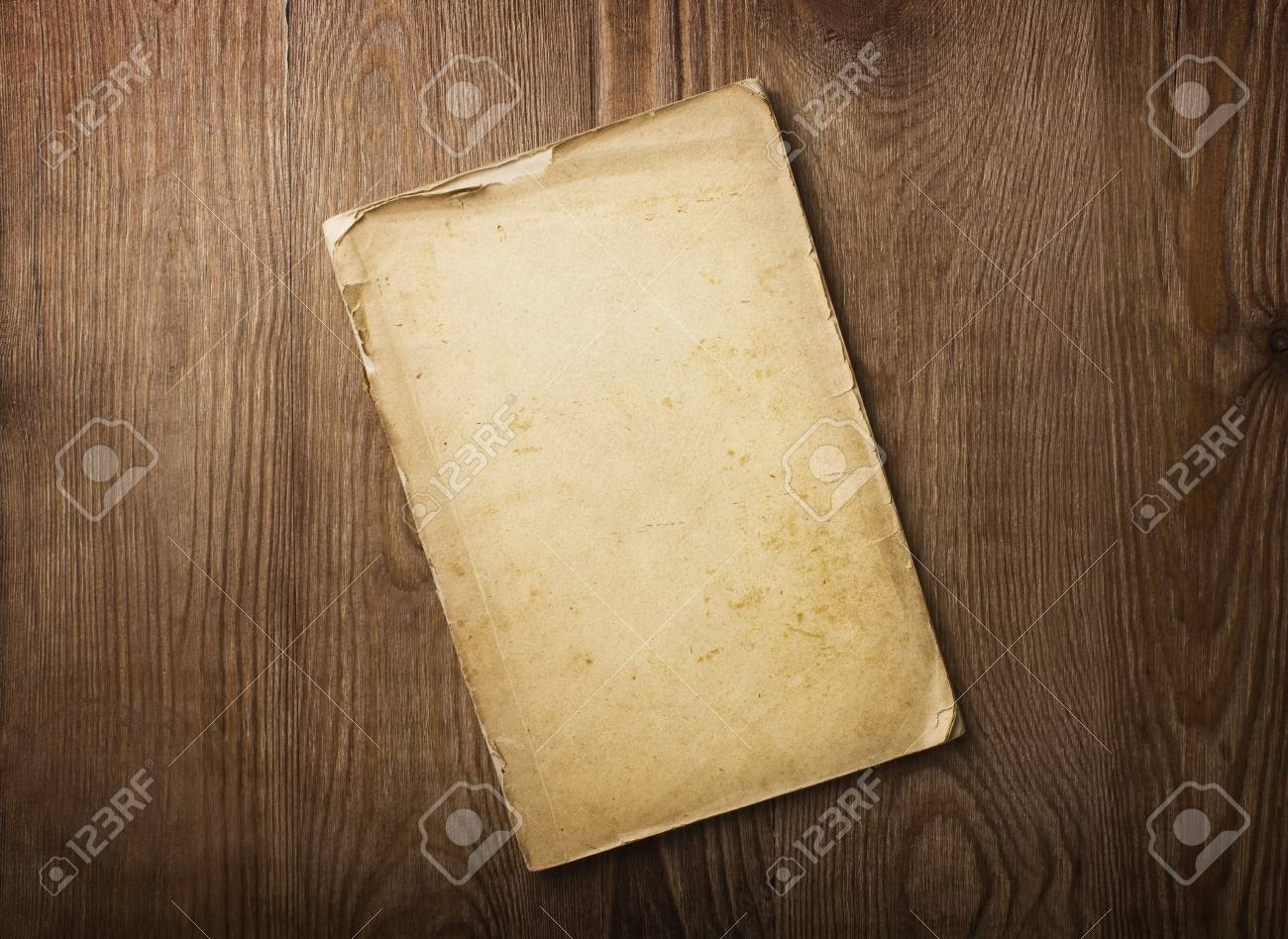 old papers on a wooden table Stock Photo - 12464706