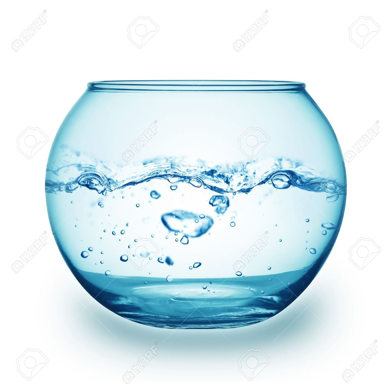 close up view of a fish bowl on white background Stock Photo - 13306975