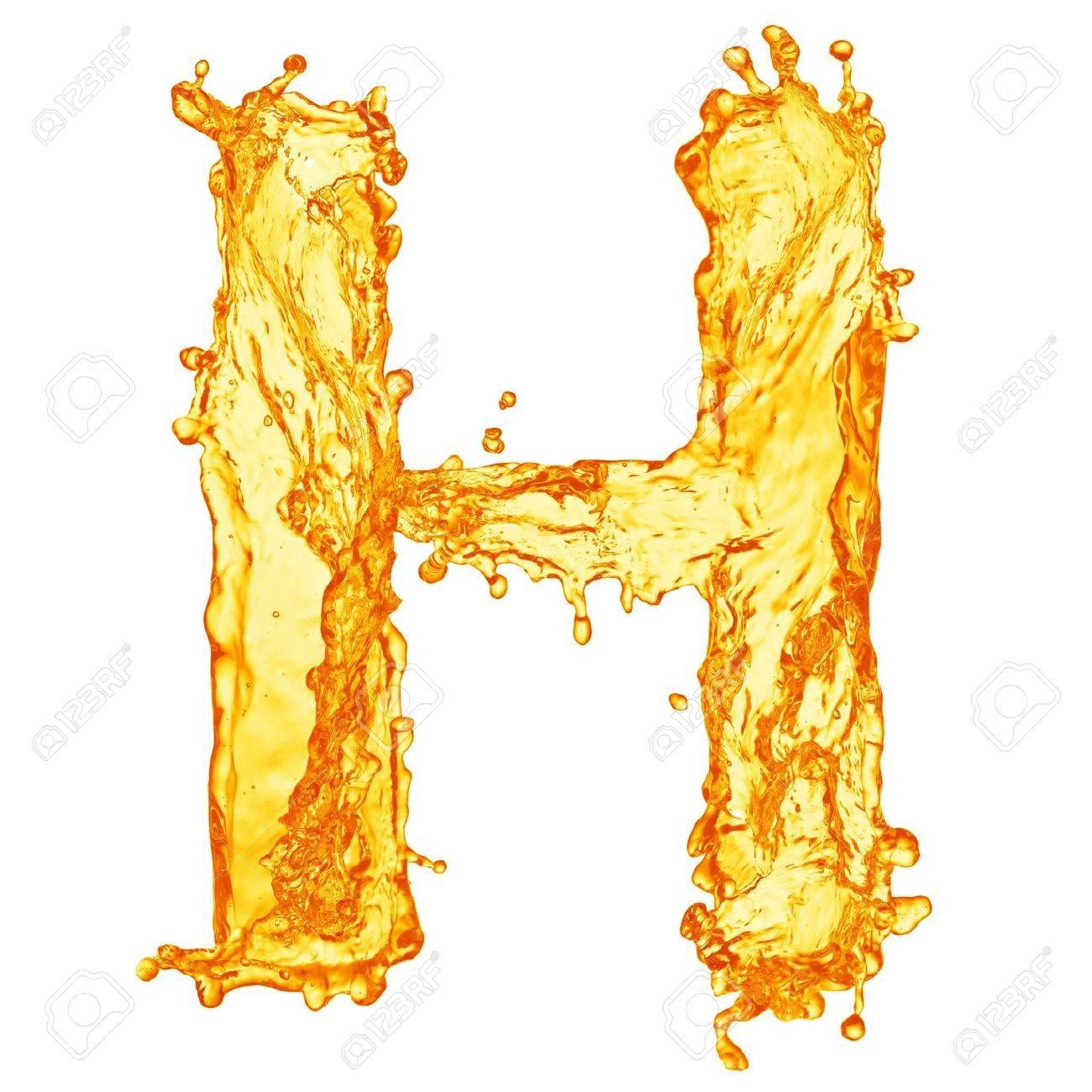 Orange liquid splash alphabet Stock Photo - 13980629