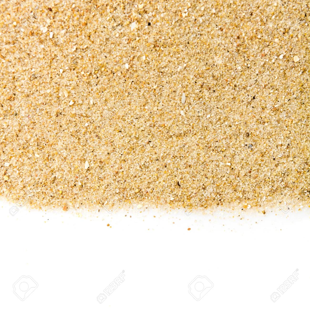 The sand isolated on white background Stock Photo - 14901309
