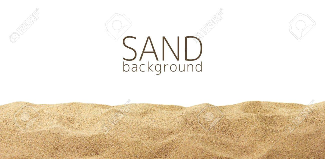 The sand scattering isolated on white background Stock Photo - 20125862