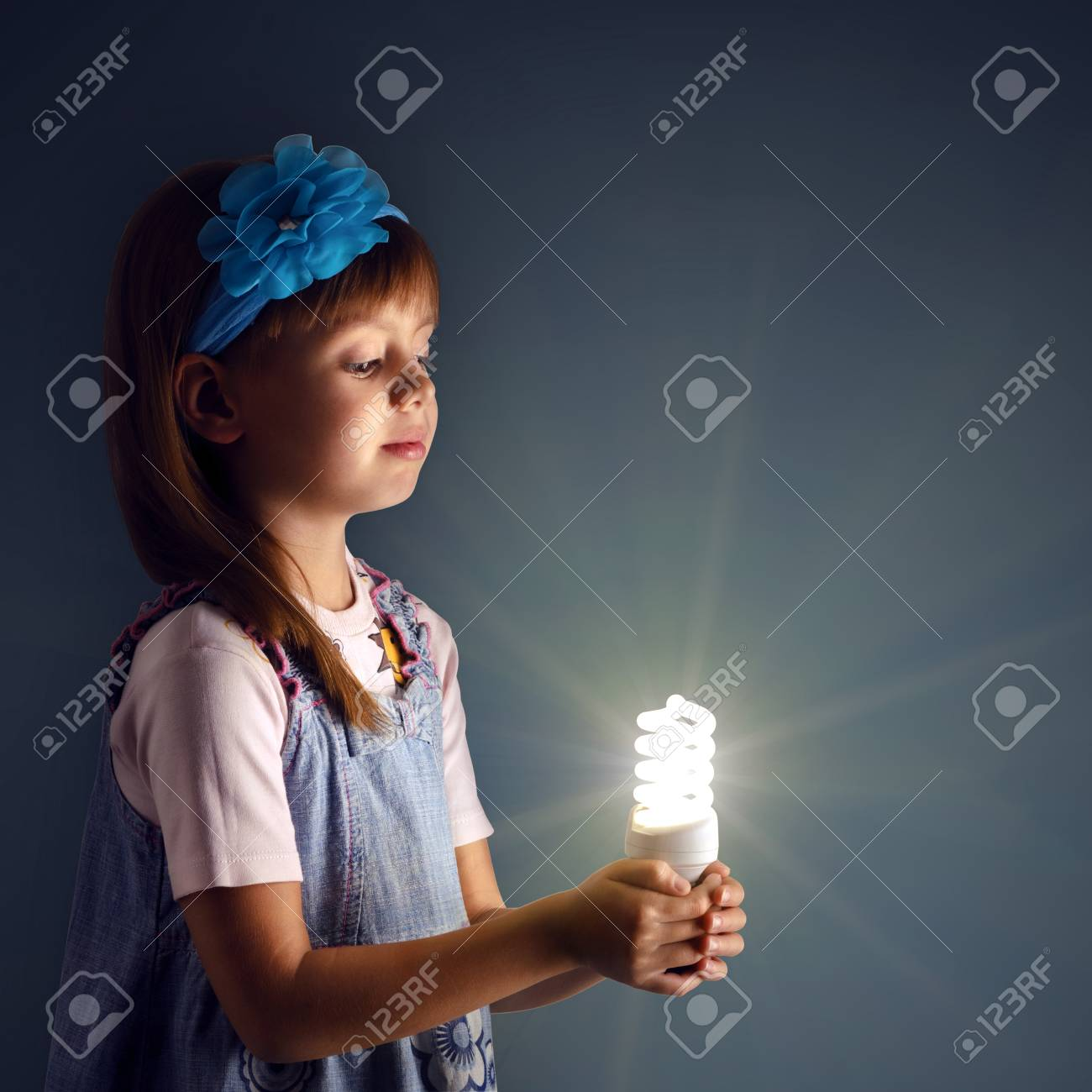 Little Girl With A Lit Lamp In Hand Stock Photo, Picture And ... for Little Girl With Lamp  545xkb