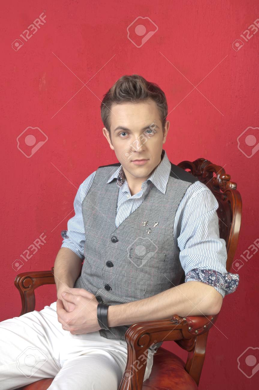 Portrait of a calm young man Stock Photo - 12599519