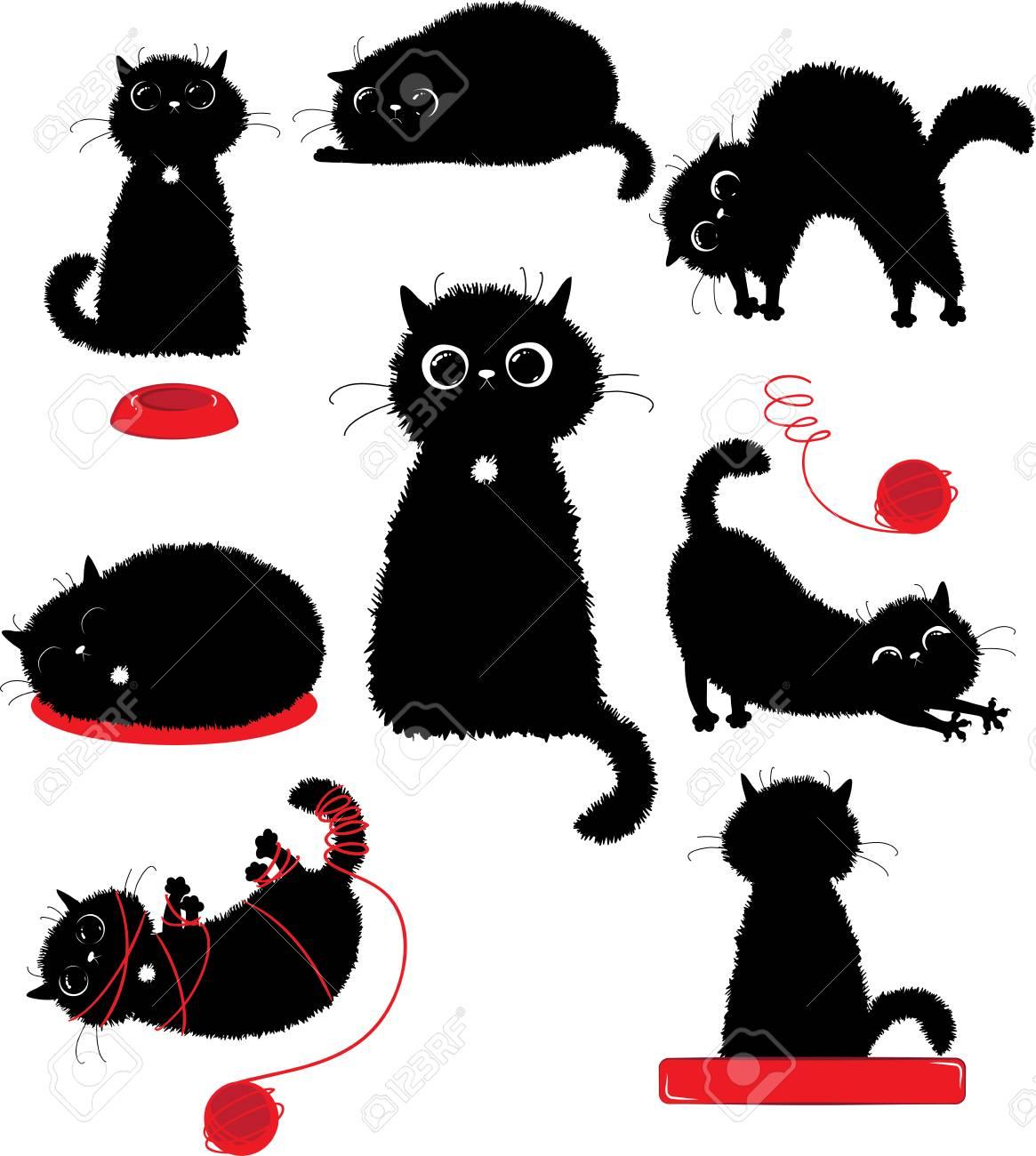 Black kitty playing - 83683598