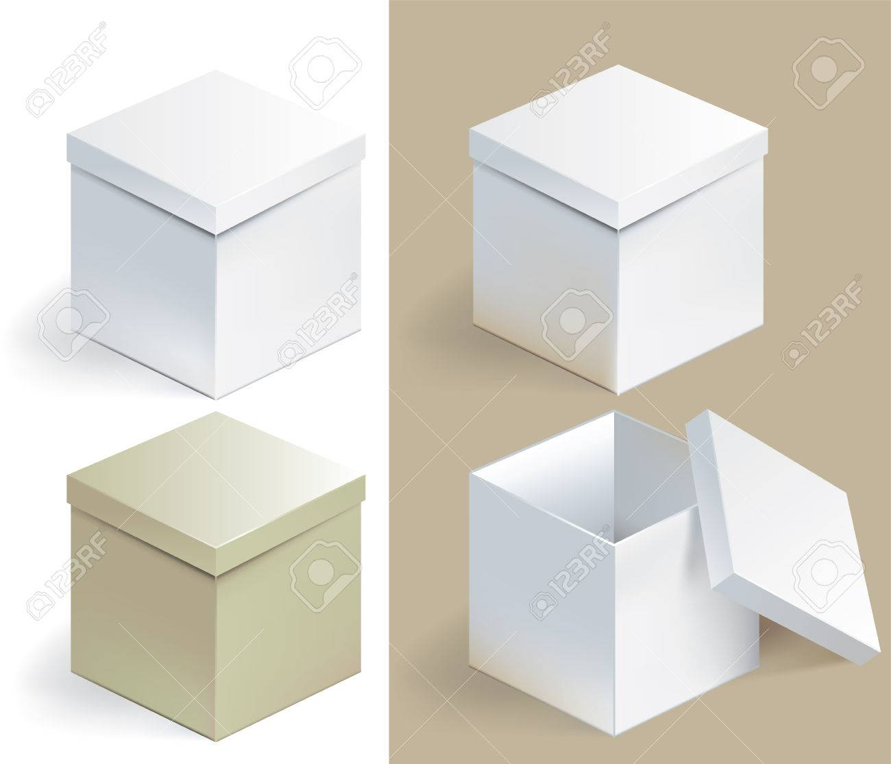 Vector illustration of empty sqare box on isolated background - 84108580