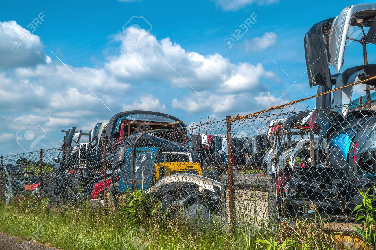 Dump Old Cars And Sell Used Parts For Cars Stock Photo, Picture And ...