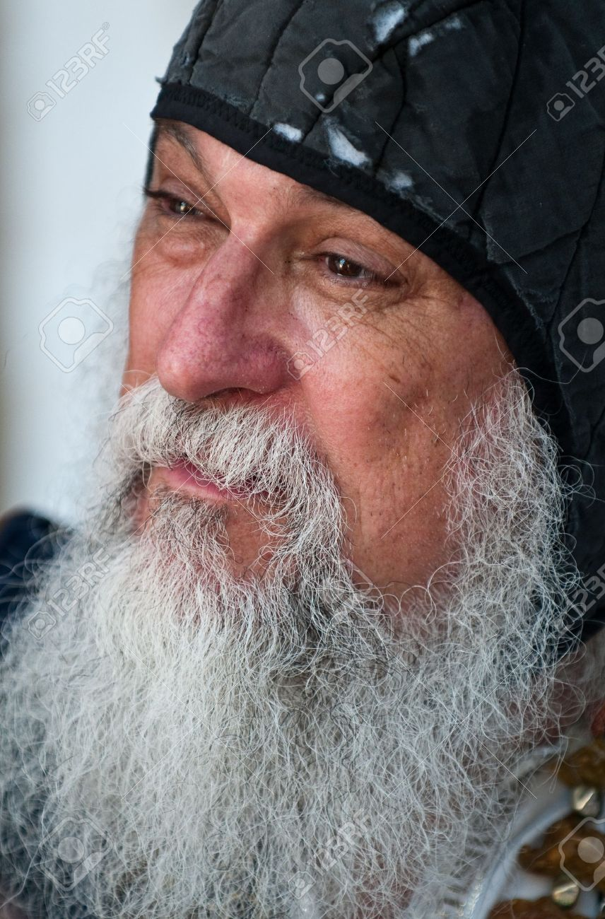 Miraculous Portrait Of Old Man With Long White Beard Stock Photo Picture Short Hairstyles Gunalazisus