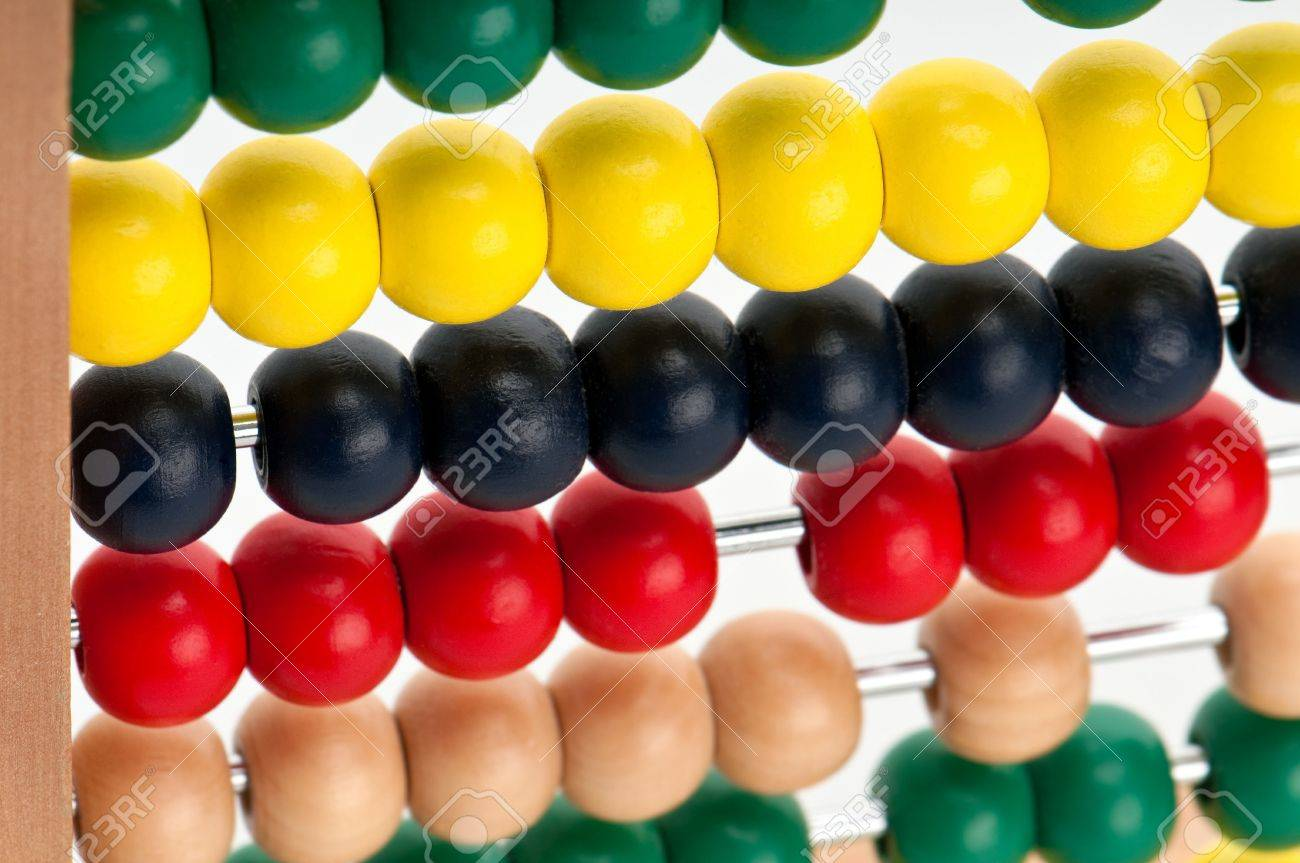 Close up Image of colorful abacus beads. Stock Photo - 6107615