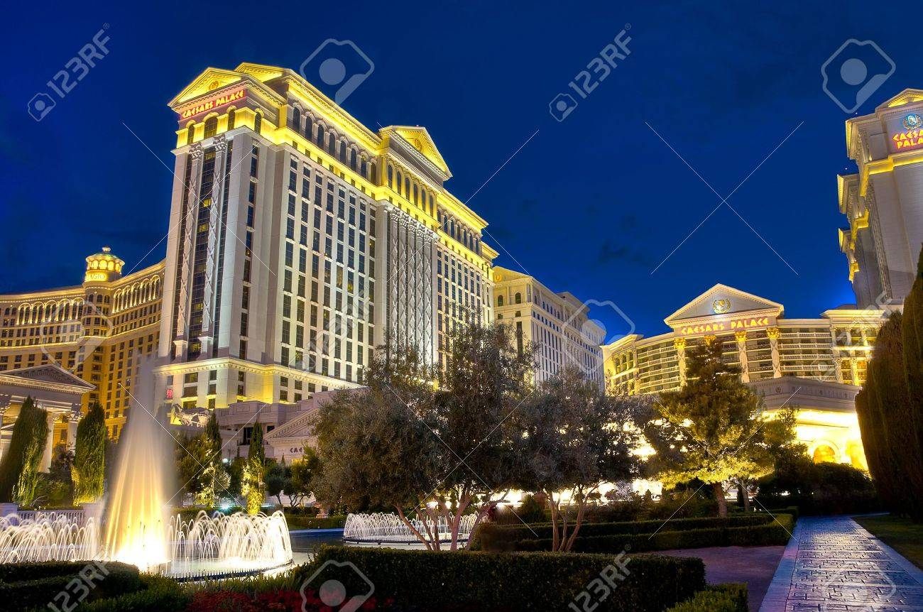 LAS VEGAS, NV - MAY 31: Caesars Palace resort facade taken in May 31, 2009. Caesars Palace is a luxury hotel and casino located on the Las Vegas Strip. Caesars has 3,348 rooms in five towers: Augustus, Centurion, Roman, Palace, and Forum. The Forum tower  Stock Photo - 6887915