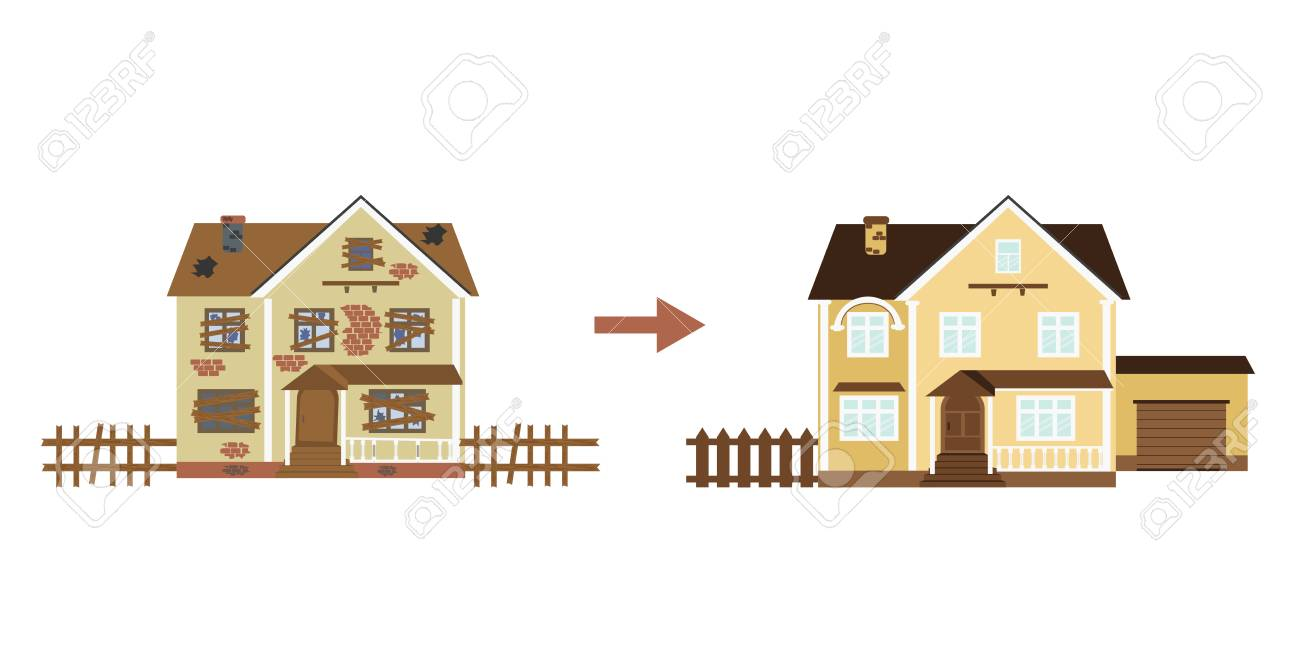 House Before And After Repair Old Run Down Home Renovation Royalty Free Cliparts Vectors And Stock Illustration Image 121327126,Parmesan Crusted Chicken