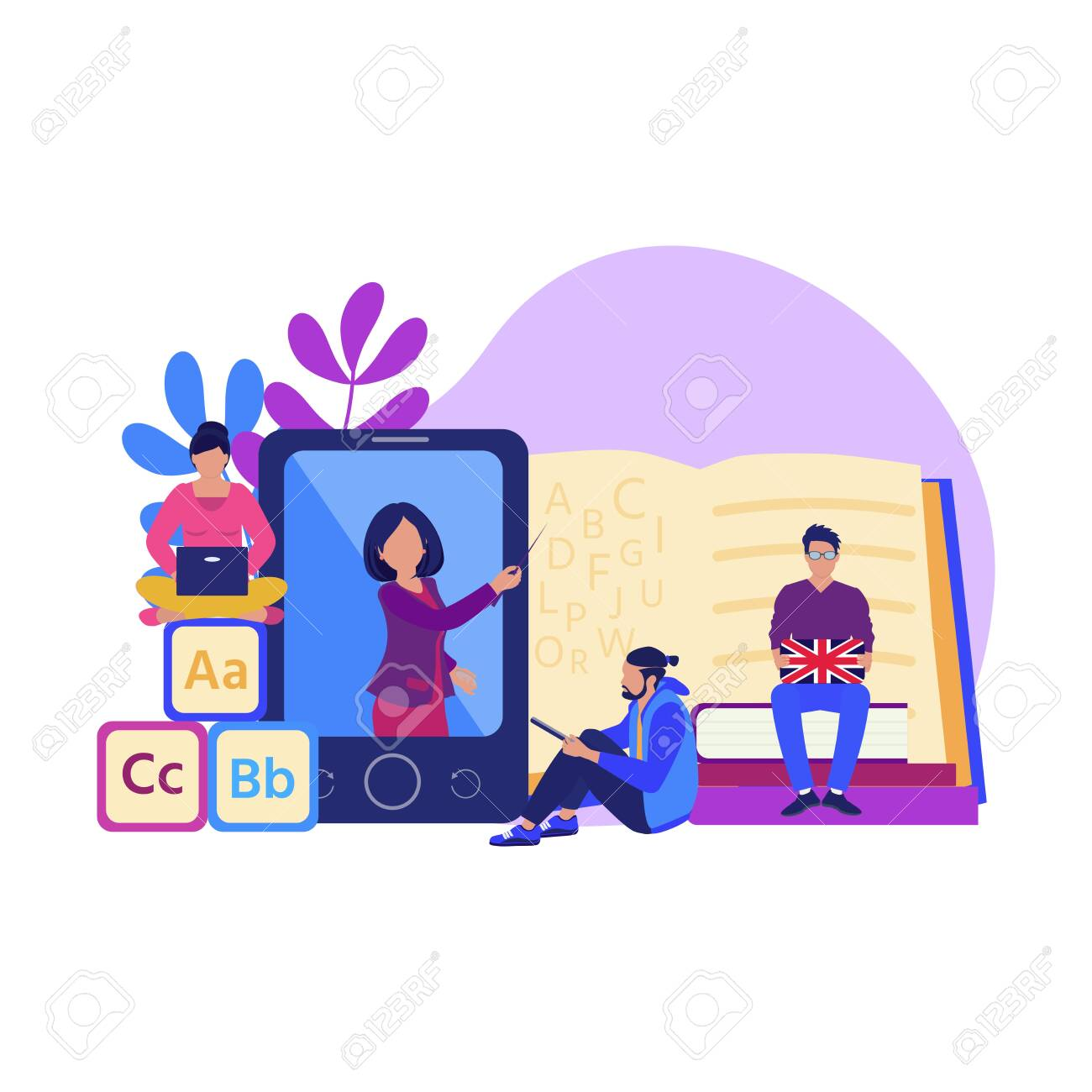 Online Learning Training And Teaching Seminar Education Concept Royalty Free Cliparts Vectors And Stock Illustration Image 124863182