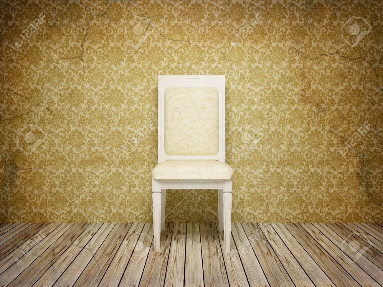 Classique Interieure Antique Avec Chaise Style Ancien Rendu 3d Mon Propre Modele
