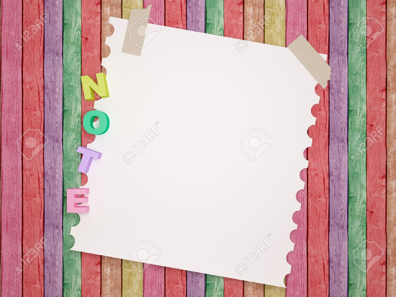 Notebook  paper background. Funny children's framework. Stock Photo - 13671164