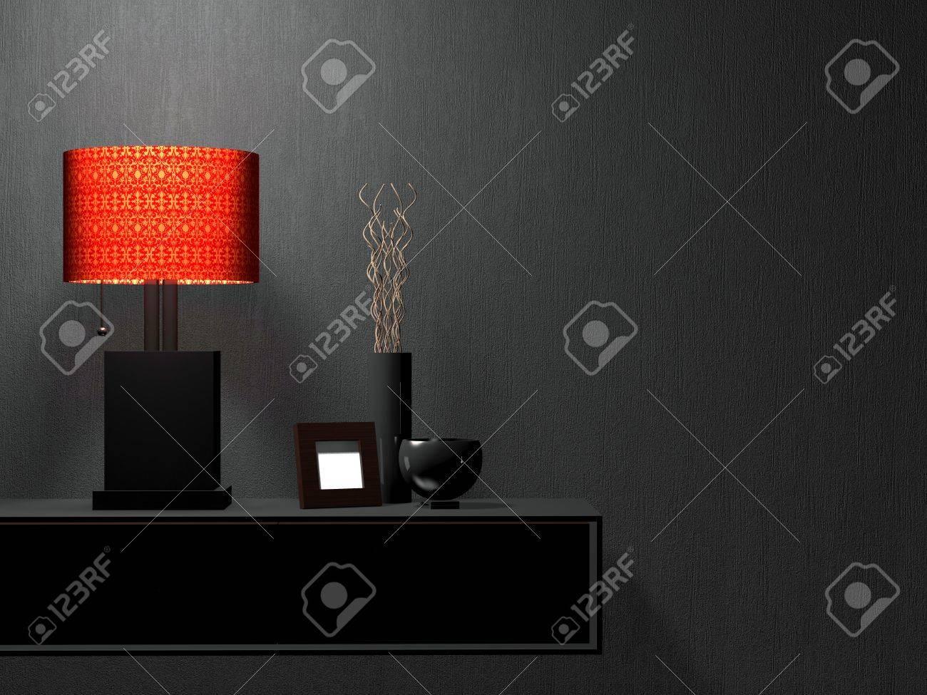 Détail Coup De Mobilier Salon Moderne. Le Design Intérieur. Banque D ...