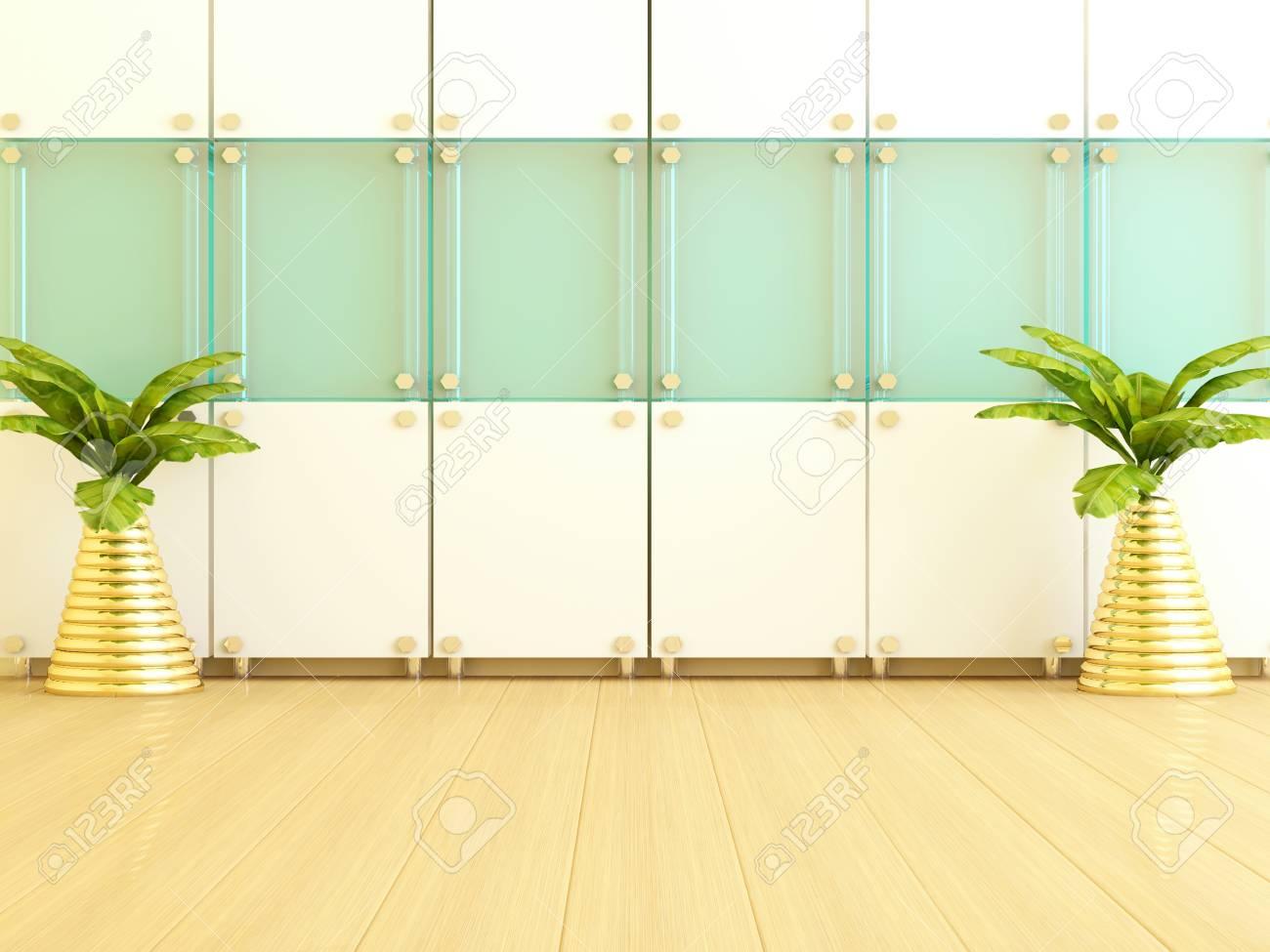 Interior Design Of Modern Living Room. Wall Decoration. Stock Photo ...