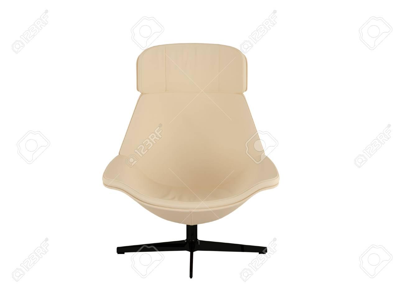 Poltrona Ufficio Bianco : Poltrona da ufficio brown isolato su sfondo bianco illustrazione 3d