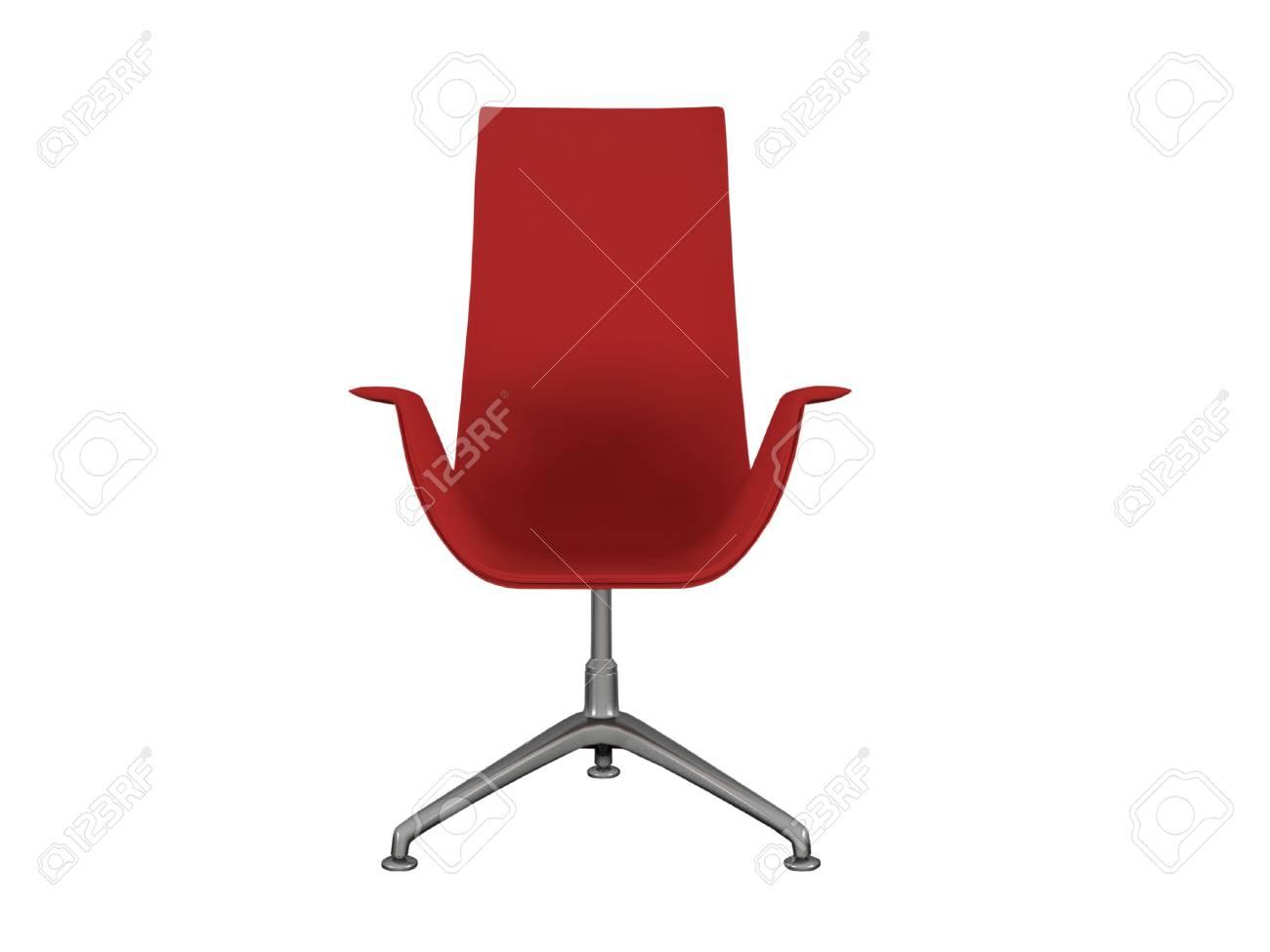 Poltrona Ufficio Bianco : Poltrona da ufficio moderna rosso isolato su bianco 3d rendering
