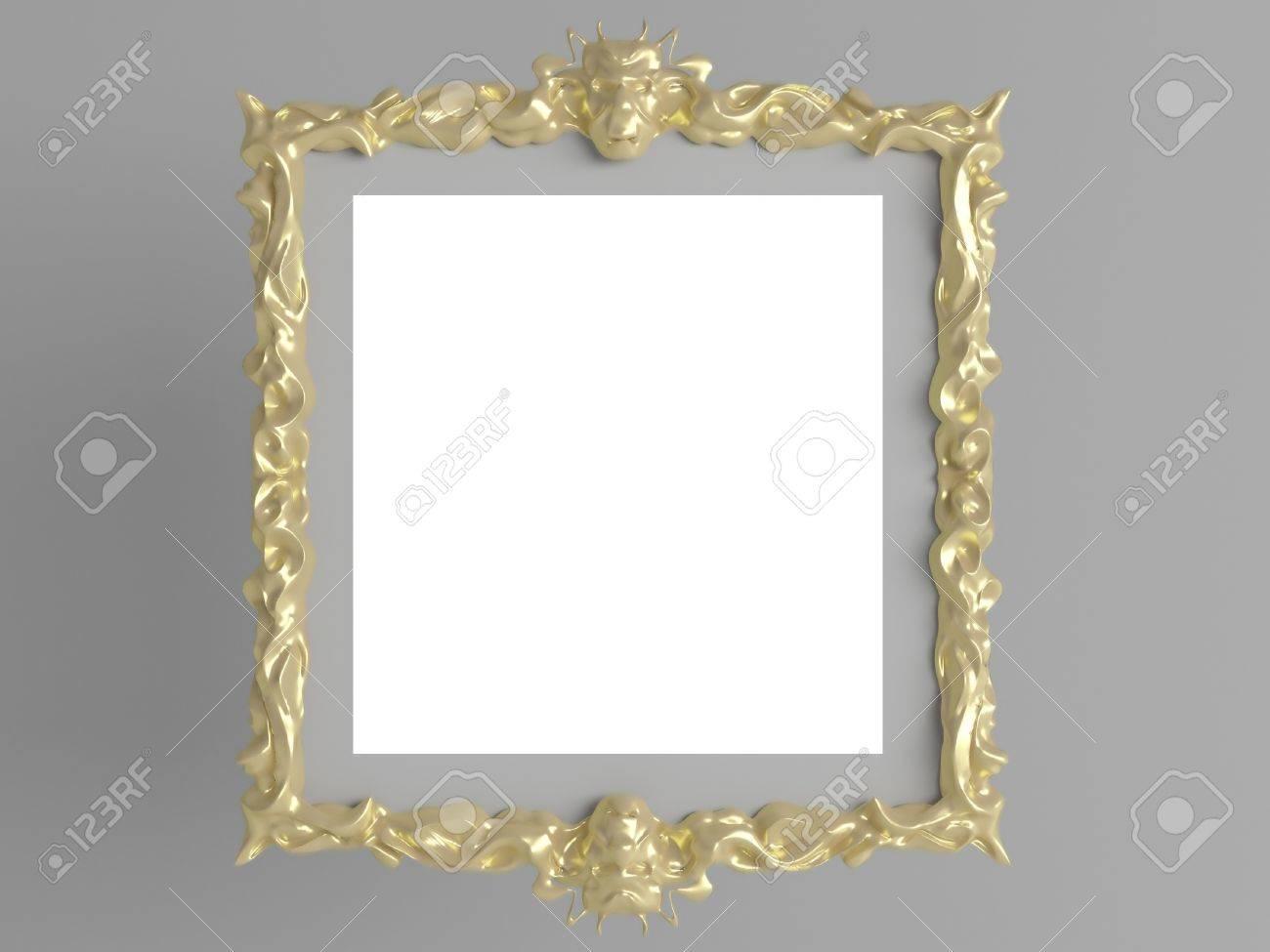 Decoración De Oro De época Vacía Marco De Imagen Pared Inserte Su ...