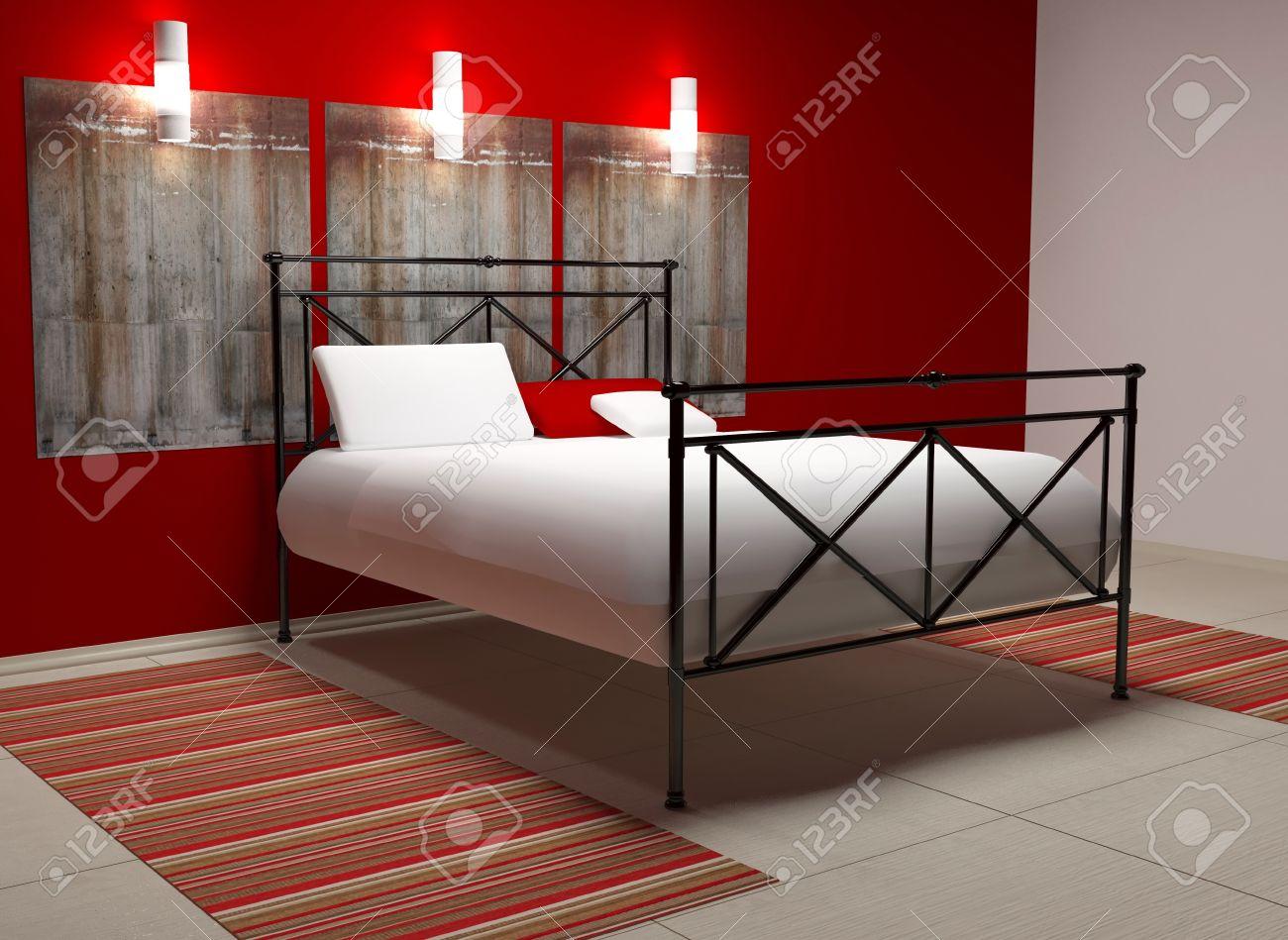 Pareti Camera Da Letto Rossa : Camera da letto rossa e bianca dipingere le pareti della camera da