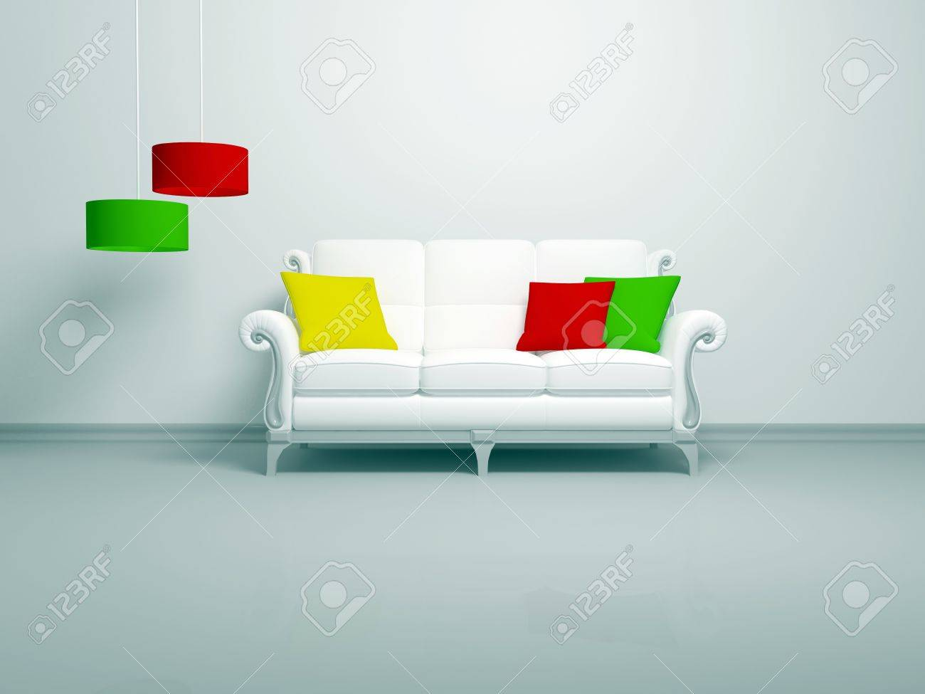 Minimalist Living Room Modern Interior Of White Minimalist Living Room White Sofa With