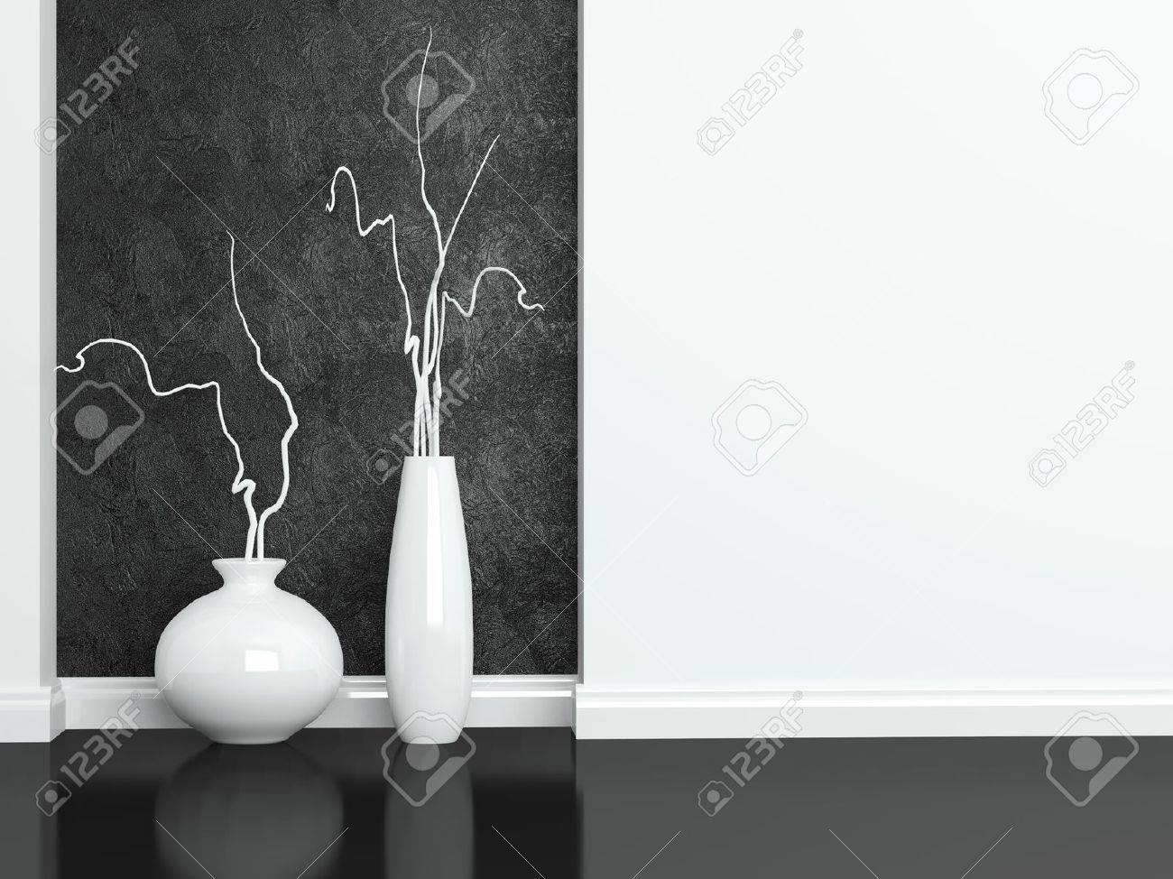 dettaglio colpo di mobili moderni soggiorno in bianco e nero in ... - Mobili Soggiorno Bianco E Nero 2