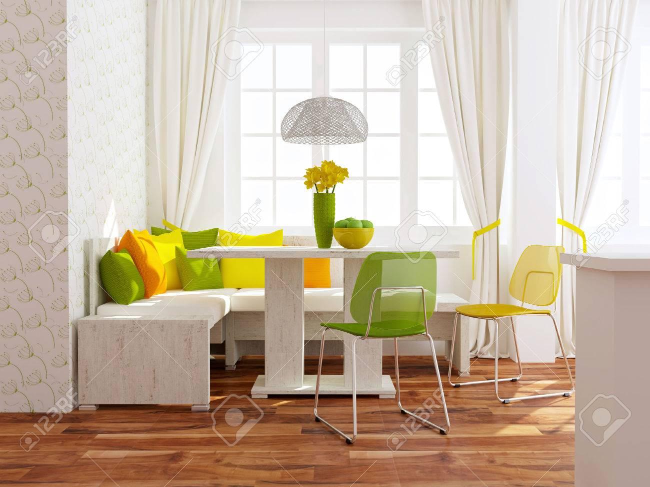 Diseño moderno interior. Comedor contemporáneo.