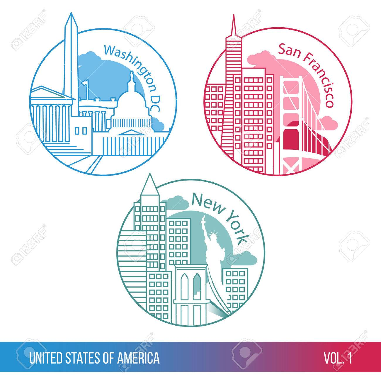 Capitol Silhouette Stock Ilrations Cliparts And Royalty Washington Dc Map Silhouette