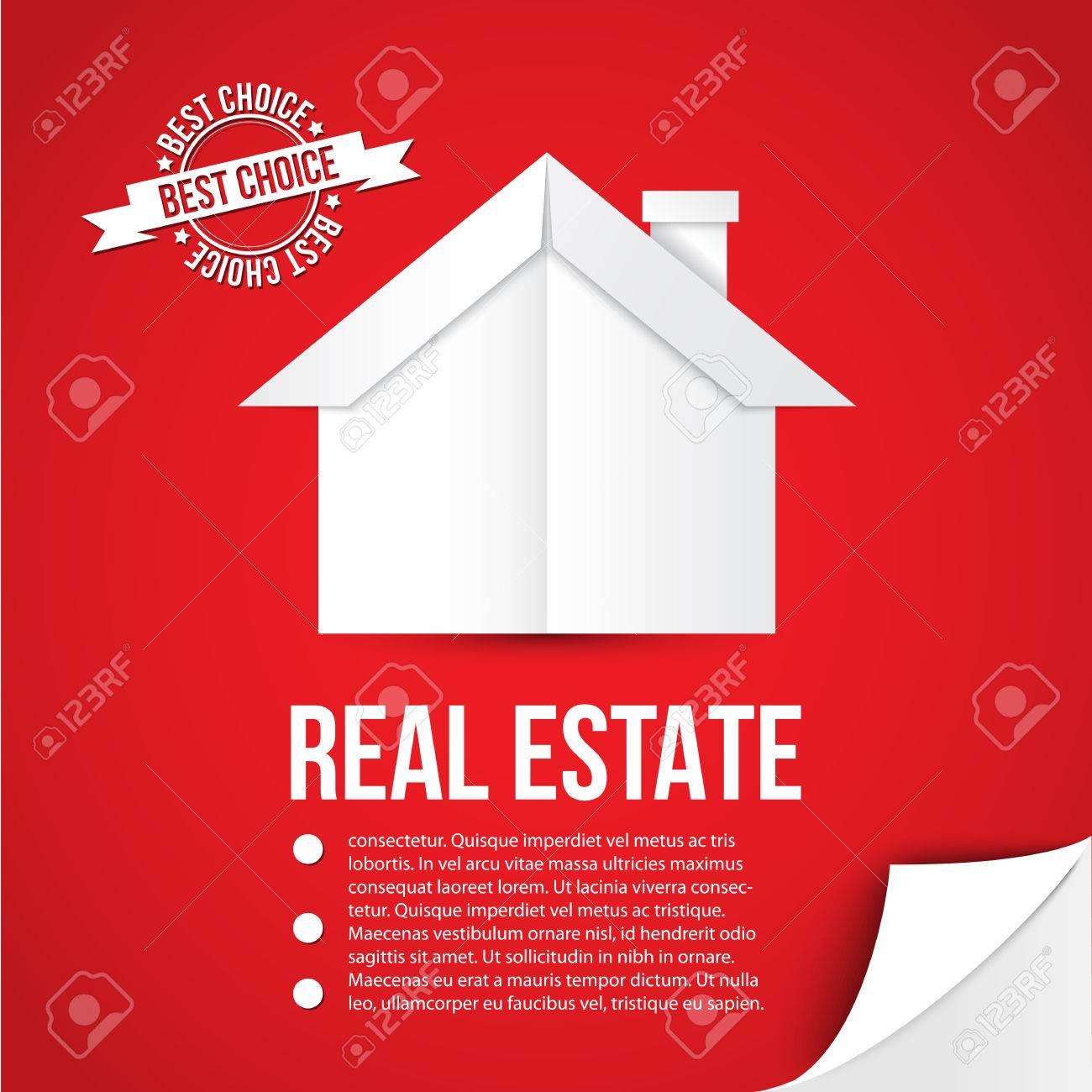 Vettoriale Casa Di Carta Bianca Su Sfondo Rosso Concetto Per