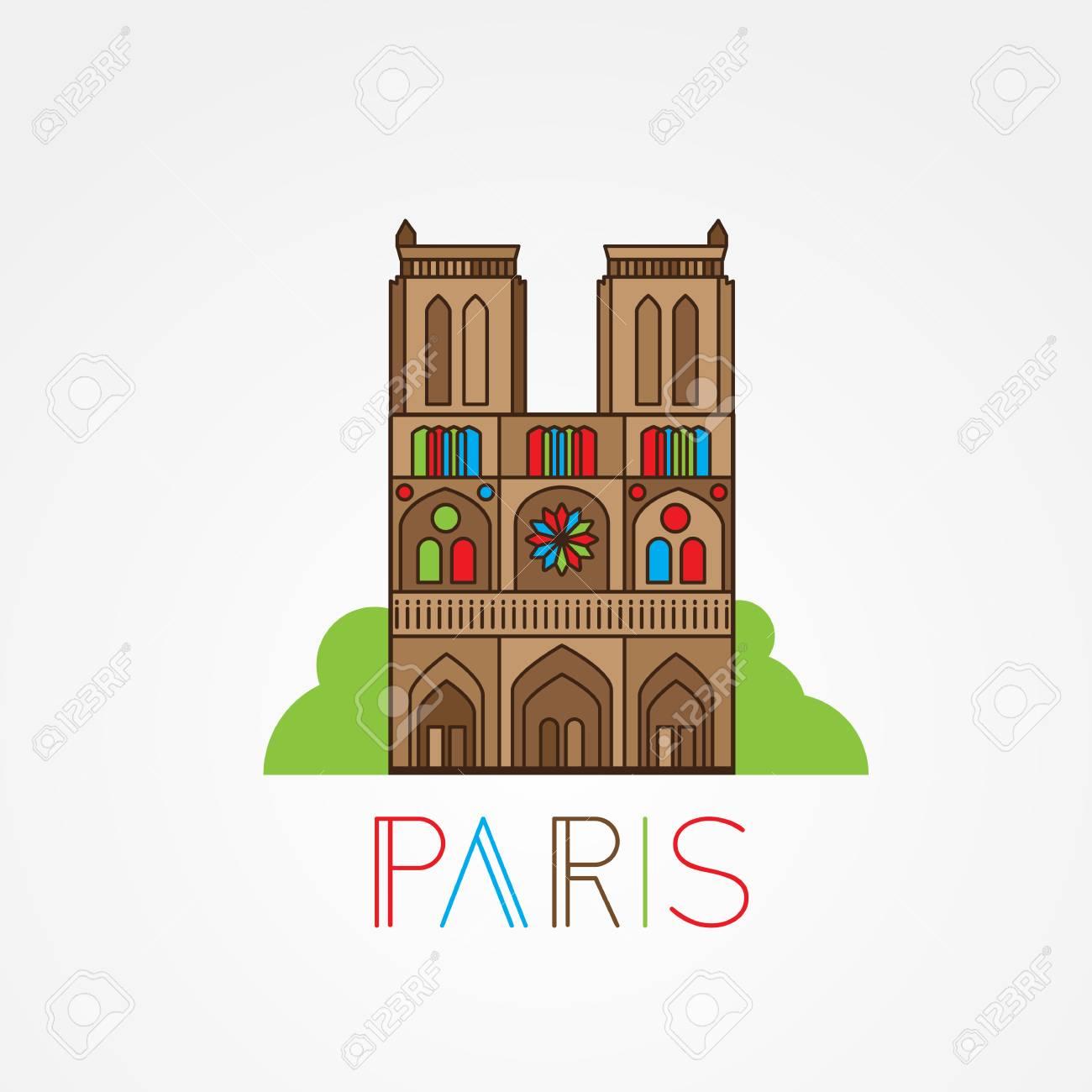 Notre Dame De Paris Disegno.World Famous Notre Dame De Paris Greatest Landmarks Of Europe