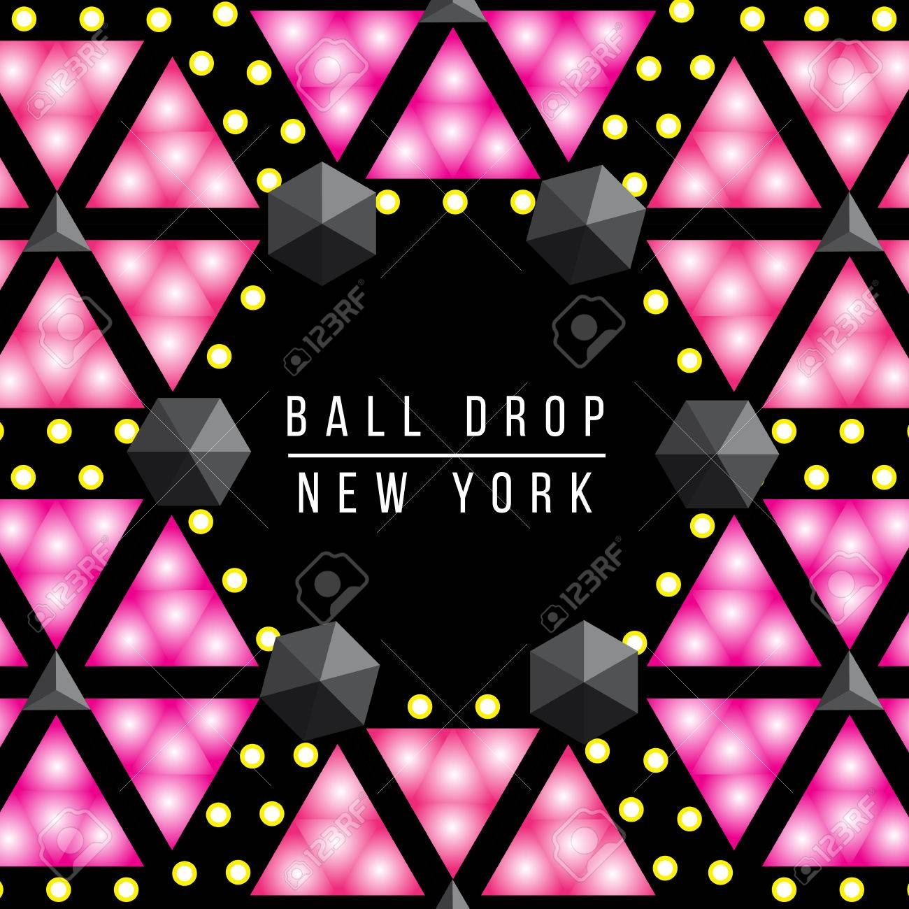 new year ball drop in times square new york vector decorative background for party poster