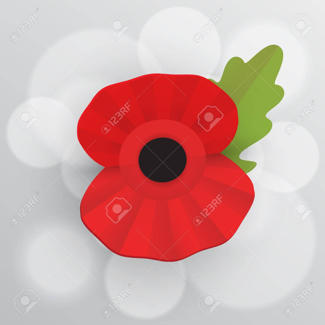 The Remembrance Poppy Poppy Appeal Decorative Vector Flower