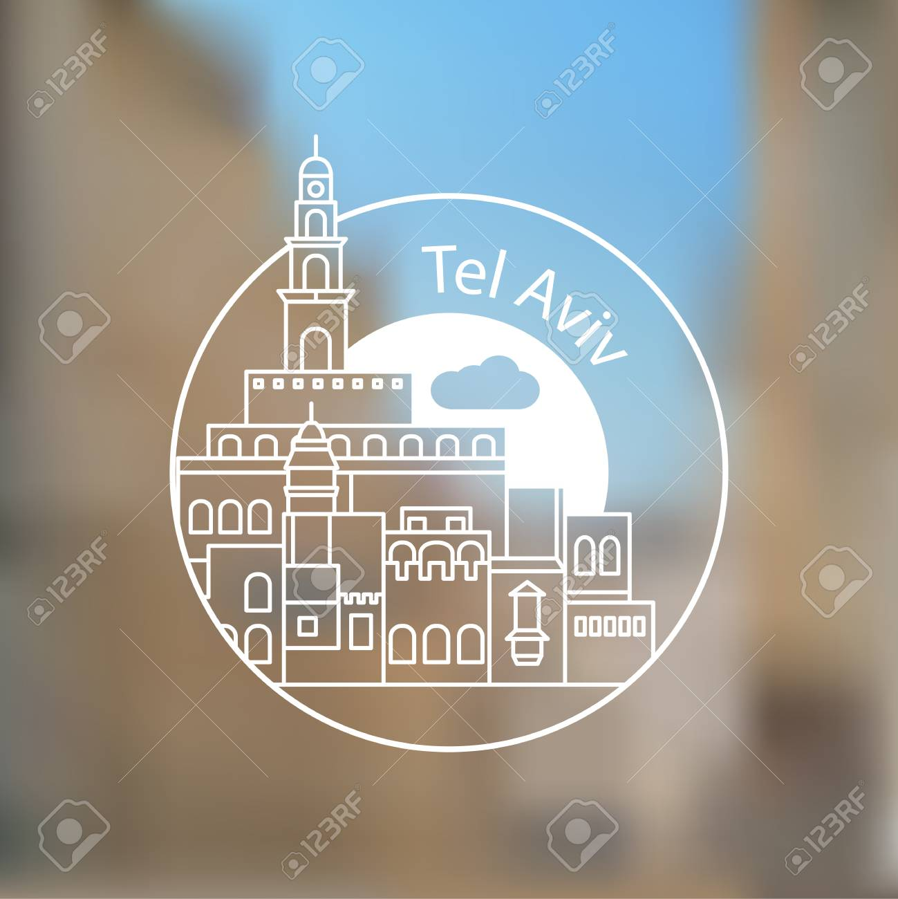 Jaffa Portr - The symbol of Tel Aviv, Israel. - 106118003