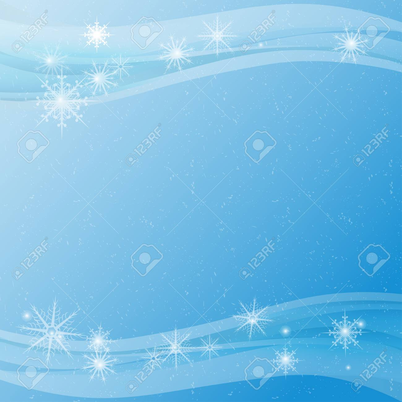 New Year. Celebration. Blue background, texture. Snow, snowflakes. Frame. Template, postcard. - 110255105