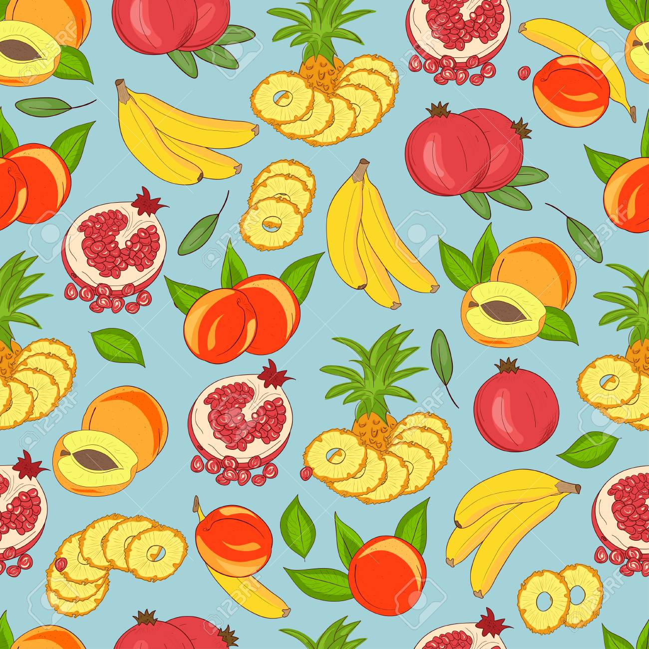 background wallpaper seamless pineapple banana pomegranate royalty free cliparts vectors and stock illustration image 113563019 background wallpaper seamless pineapple banana pomegranate