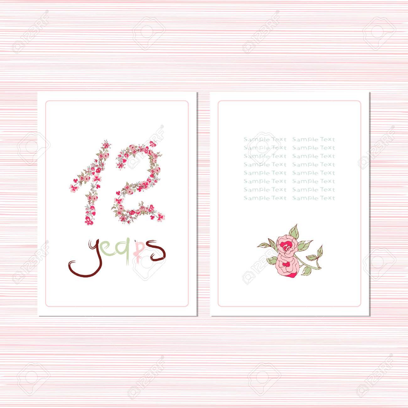 Postcard Template | Postcard Template Congratulations On A Birthday Anniversary Set