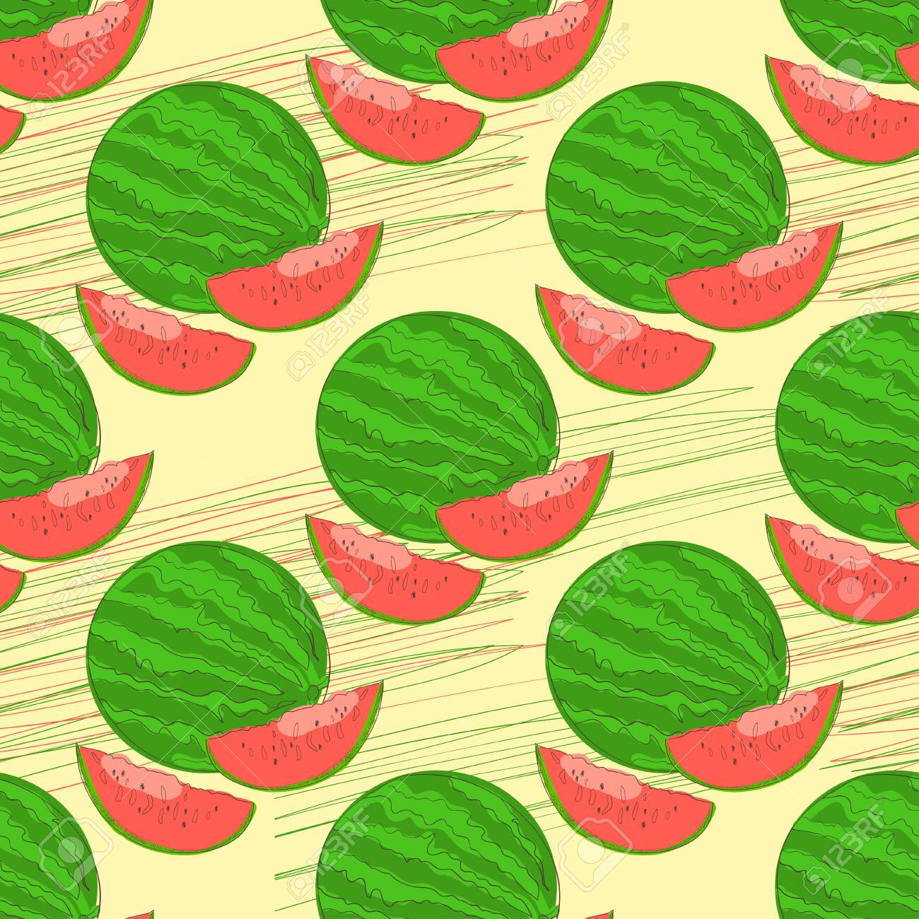 Watermelon Round Part Of Watermelon Background Texture Wallpaper Royalty Free Cliparts Vectors And Stock Illustration Image 113563102