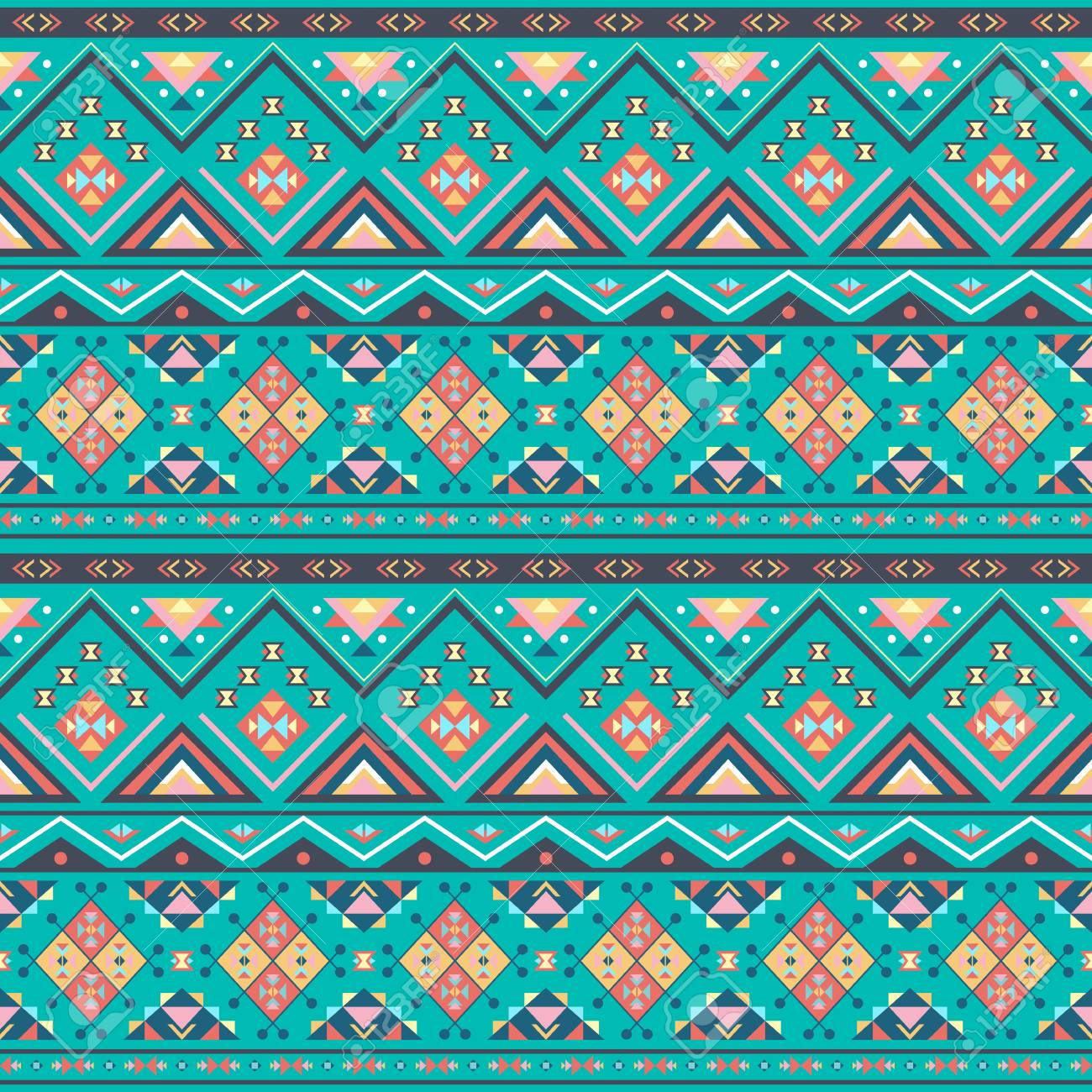 Ethnic Boho Seamless Patterns Vintage Ornament Abstract