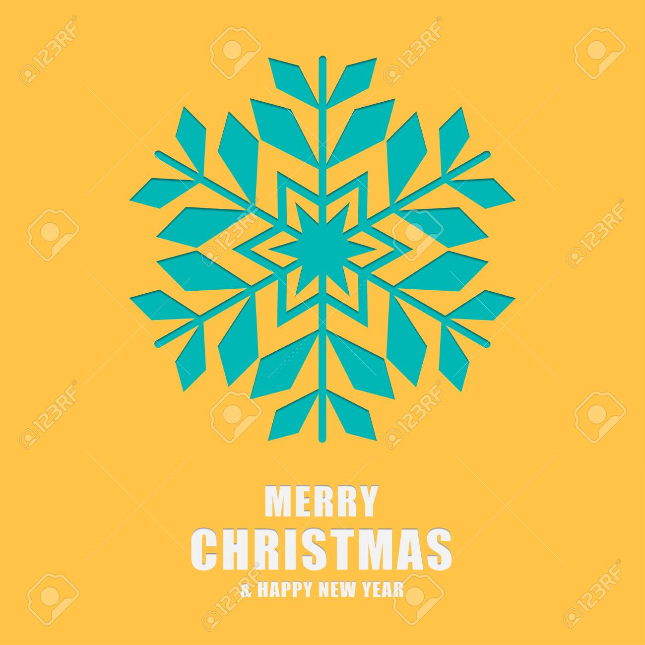 christmas and new year greeting card template snowflakes laser cut and engraved stencil for