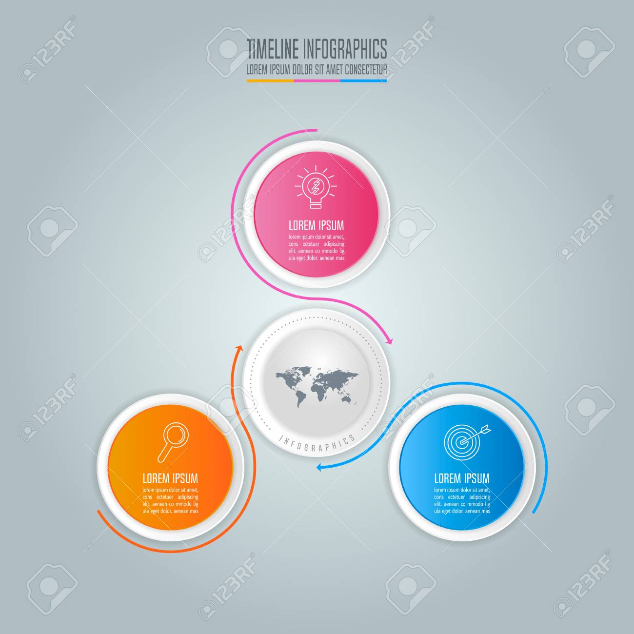 creative concept for infographic. timeline infographic design