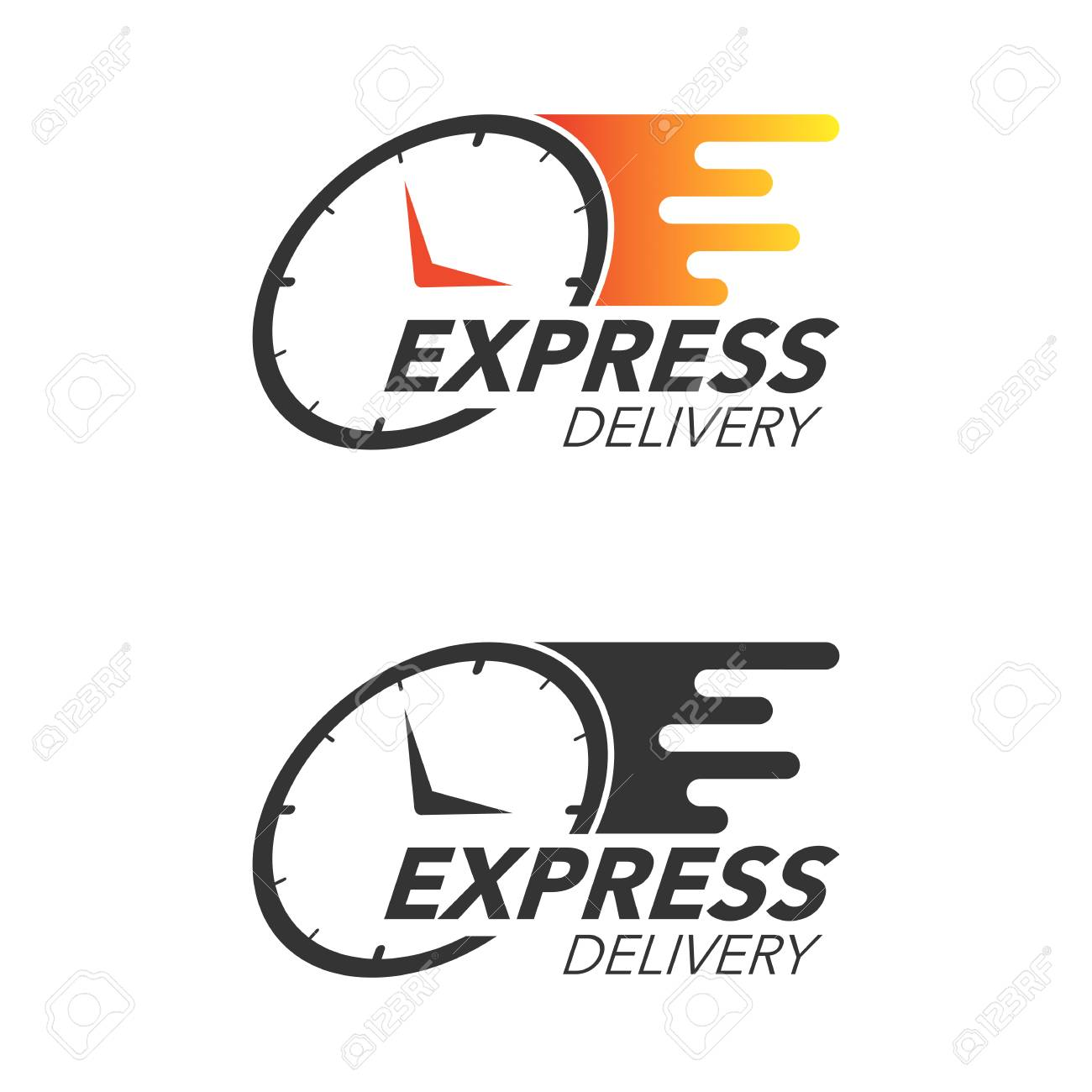 Express delivery icon concept. Watch icon for service, order, fast and free shipping. Modern design vector illustration. - 86190727