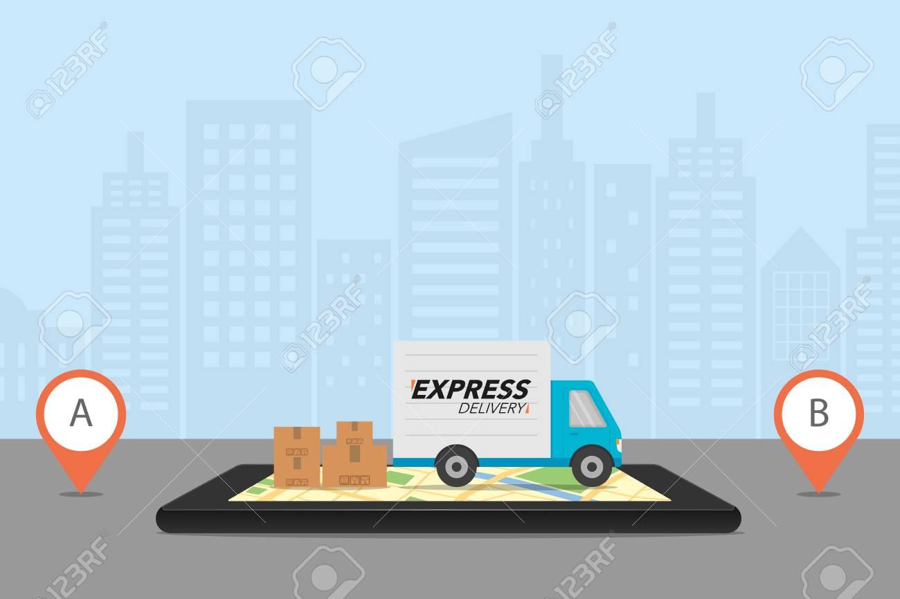 Endless Order And Delivery Background Stockvectorkunst en meer ... | 866x1300