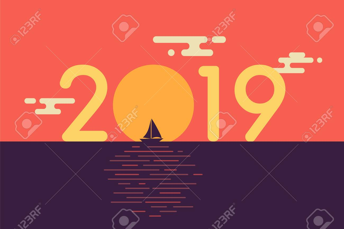 Happy New Year Flat Design 57