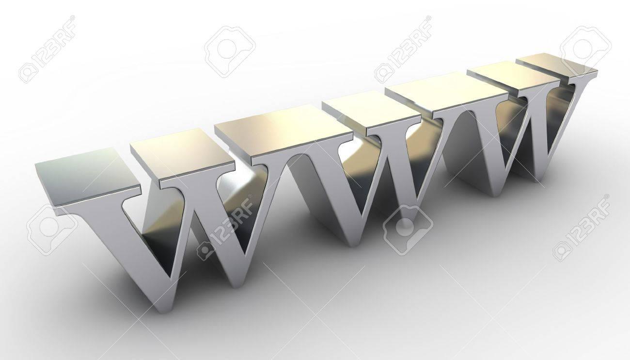 WWW metal Stock Photo - 7599453