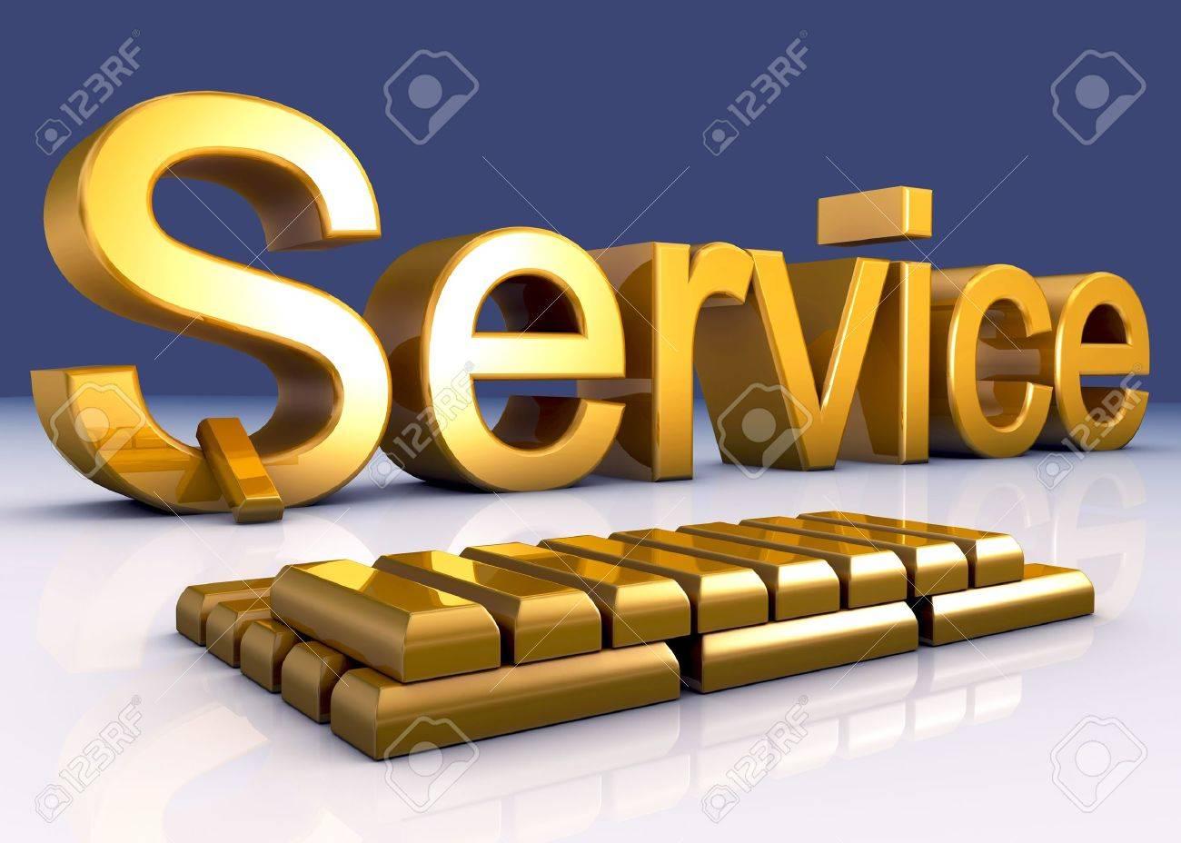 Gold Service Standard-Bild - 8524727