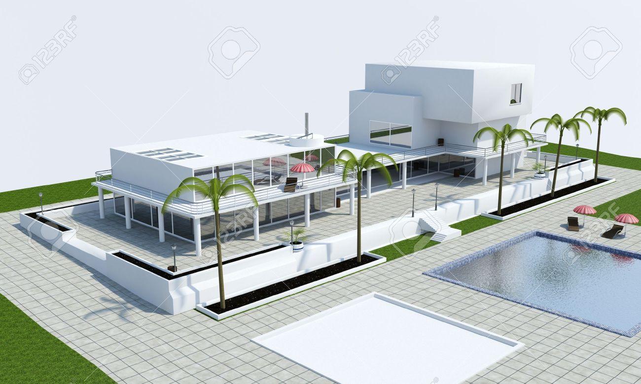 Luxury villa above Standard-Bild - 10064551