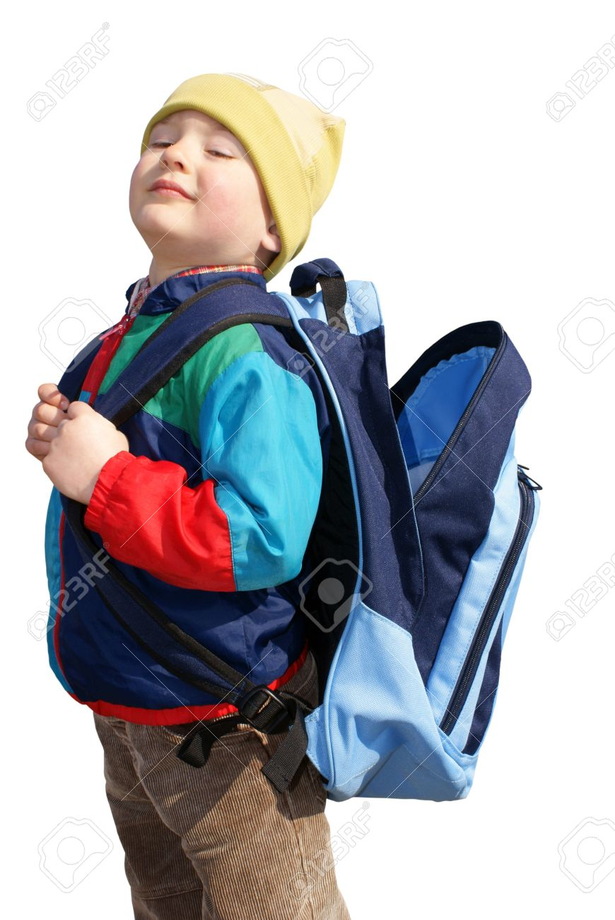 c0e6b1b3ae78 The boy stands with open backpack, insulated