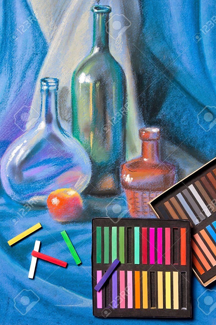 Artistas Tiza Pastel Y Dibujo En Colores Pastel Original De La Vida