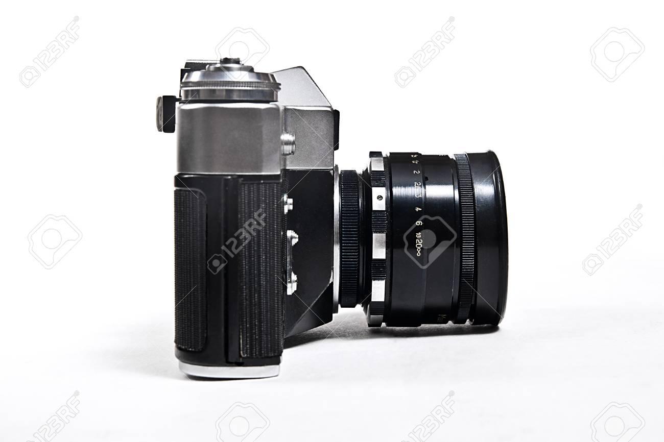 Entfernungsmesser foto kamera mit objektiv klassische schwarze